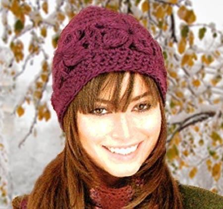 Эта симпатичная зимняя шапка