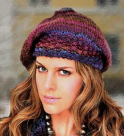 Многие модницы предпочитают. вязаным шапкам. зимние береты спицами.
