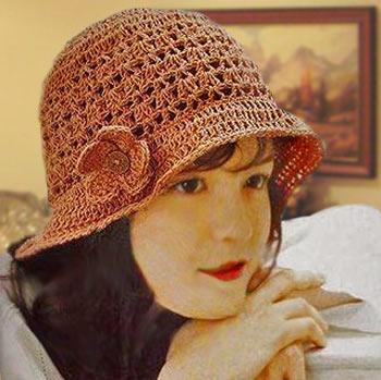летние шляпка крючком