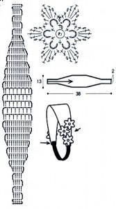вязаная повязка схема