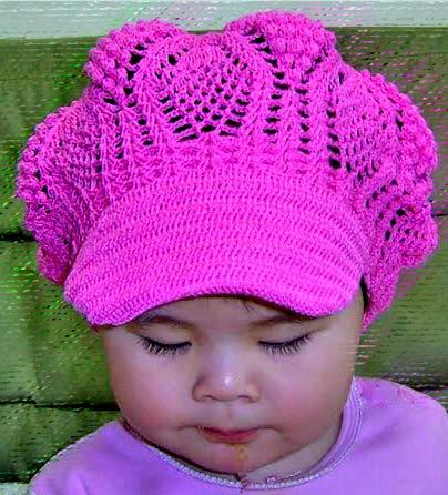 ажурная кепка крючком для девочки вязание шапок модные и новые