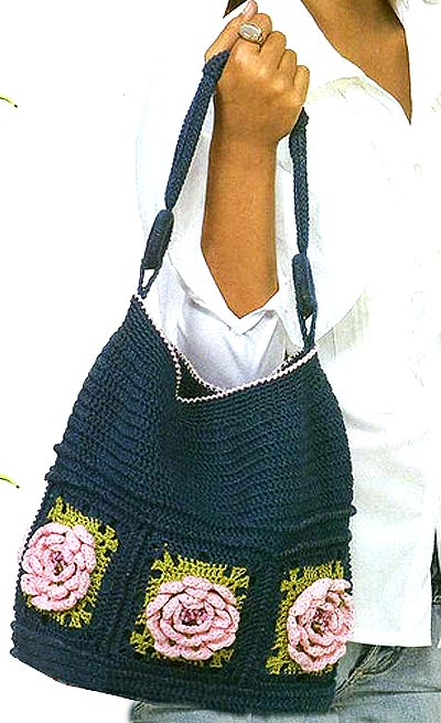 школни сумка с крючком как вязать