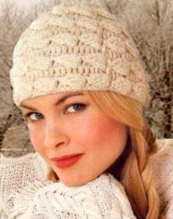 Фото вязаные женские шапки.