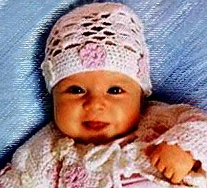 Вязаные шапочки на лето для новорождённых