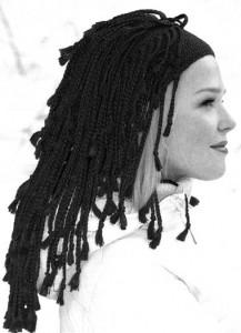 этническая шапка с косами