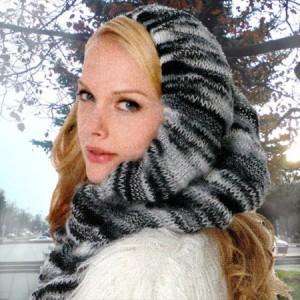 шарф капюшон вязание