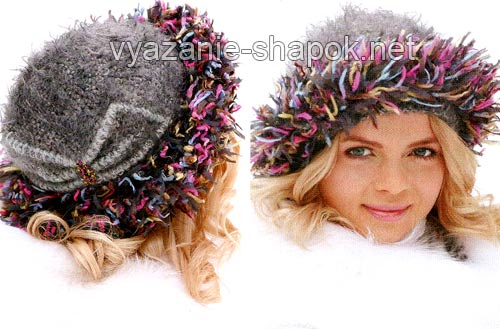 зимняя шапка крючком