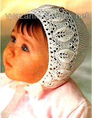 шапочка крючком для малыша