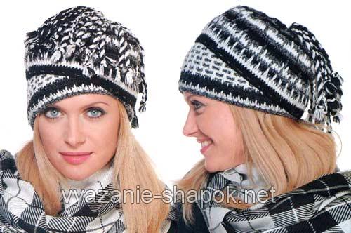 черно-белая шапка трасформер