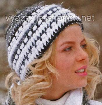 ...2011-2012 вы можете связать несложную теплую шапку крючком.