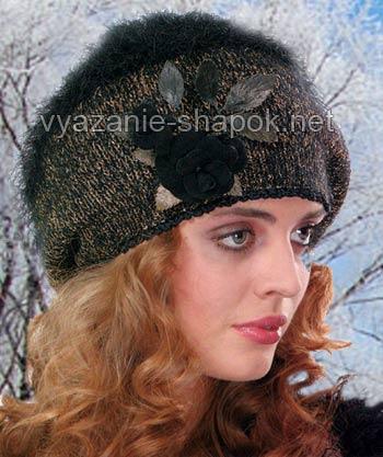 зимняя шапка. связанная на спицах.  Наши модели зимних шапок не иссякли...