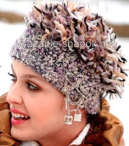схемы вязание крючком зимних шапок 1