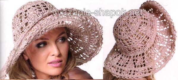 Схему вязания летней шляпы