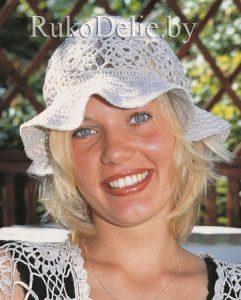 Летняя шляпка панама крючком