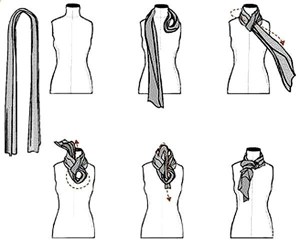 как красиво завязать шарф на шею 3