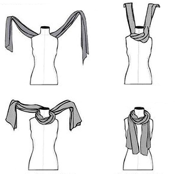 как красиво завязать шарф на шее 3