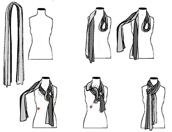 как красиво завязать шарф на шее 6