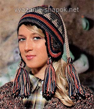 шапки женские спицами с ушками мир вязания