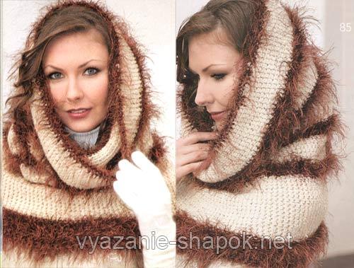 Поэтому вместо того, чтобы вязать отдельно шапку и шарф, может стоит.