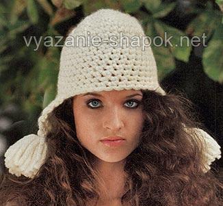 шапка-шлем с ушками