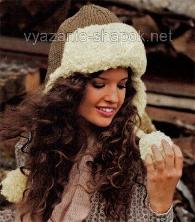 Очень теплая вязаная шапка-ушанка защитит вас от жестоких холодов зимы 2012-2013 года.