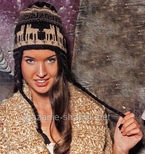 этническая шапка с узором