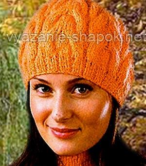 Вязание шапок спицами узоры