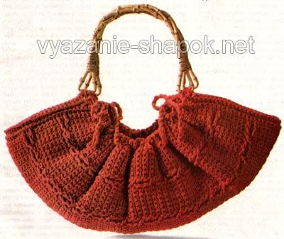 вязание крючком сумки схема