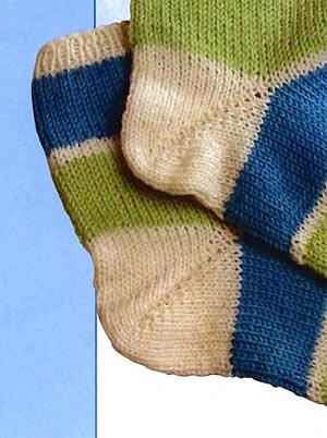 сложно вязание пятки носка