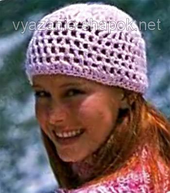 бесплатная схема вязания шапки крючком