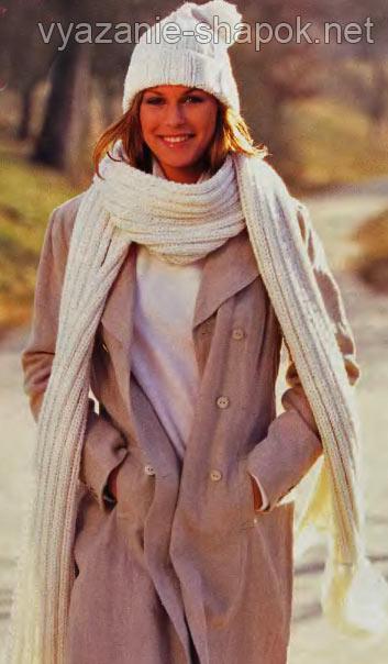 вязание шапок и шарфов спицами
