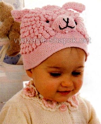 детские шапки зверюшки