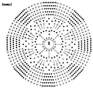 палантин крючком схема 1