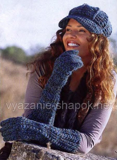 модель вязаной кепки