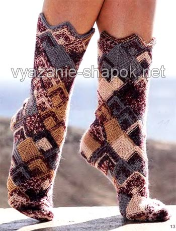 красивые носки спицами