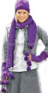 зимняя шапка и шарф спицами