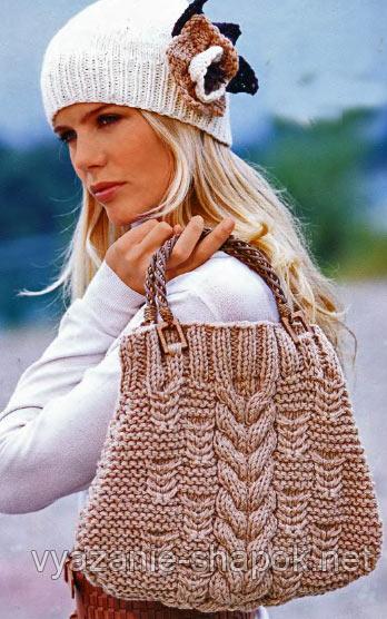 Сейчас в моде вязаные сумки,
