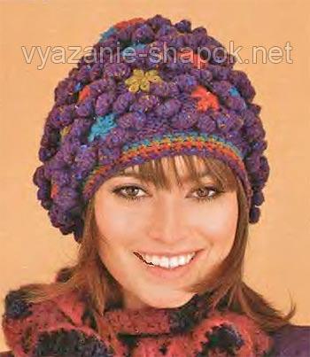 зимняя шапка с шишечками