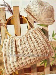 вязаная сумка и шапка