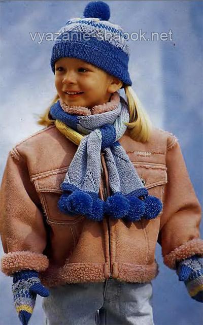 Многие мамы в преддверии холодного сезона ищут схемы вязания шапки для мальчика спицами. Эта шапка подойдет ребенку 3-4 лет
