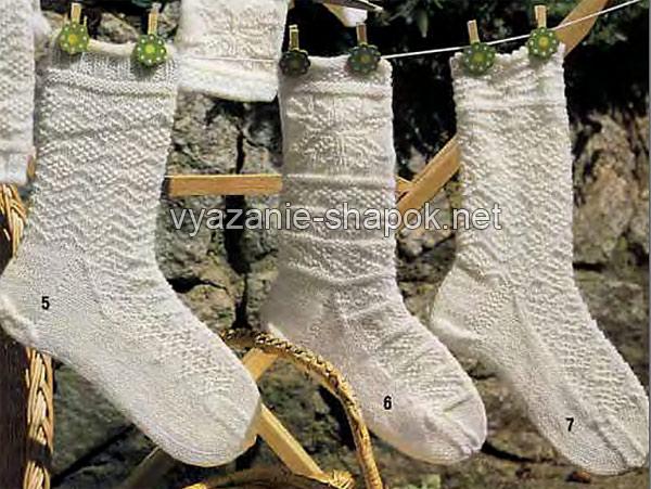 узоры для носков спицами