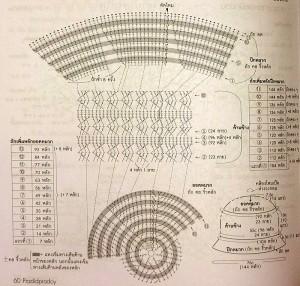 схема вязаной шляпы крючком