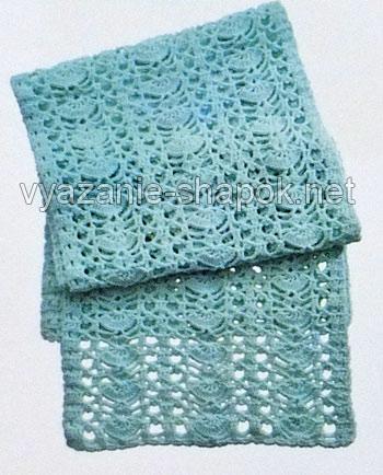 ажурный шарф крючком со схемой