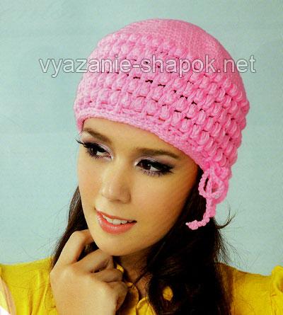 зимняя шапка крючком для женщин