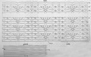 схема ажурного шарфа крючком