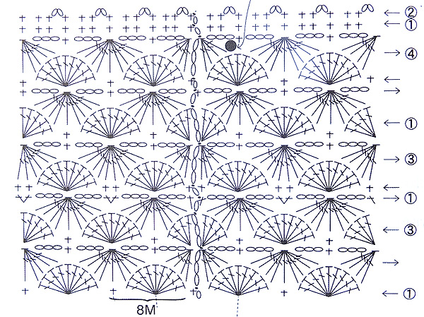 сумка крючком схема узора