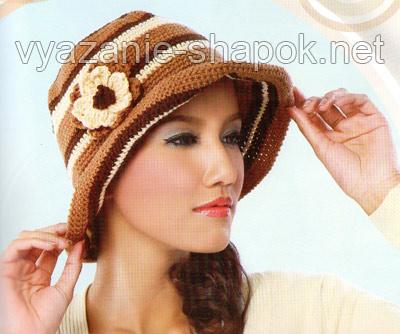 шляпа крючком для начинающих