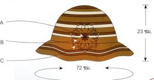 схема цветка на шляпе