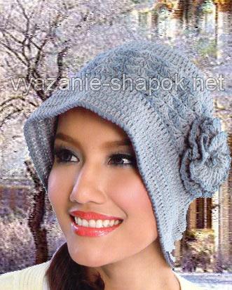 Теплая красивая шляпка
