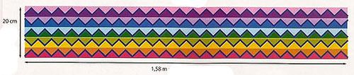 схема узора шарф